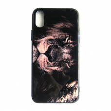 Чехол Glass Case для iPhone 6/7/8/7 Plus/8 Plus/X/Xs Lion