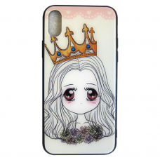 Чехол Glass Case для iPhone 6/7/8/7 Plus/8 Plus/X/Xs Queen
