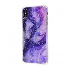 Чехол для iPhone Xs Max Galaxy TPU фиолетовый