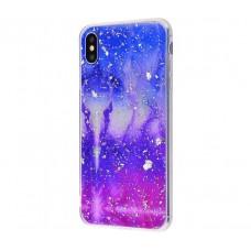 Чехол для iPhone Xs Max Galaxy TPU розово синий