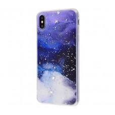 Чехол для iPhone Xs Max Galaxy TPU синий
