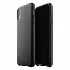 Кожаный чехол MUJJO Full Leather Case Black для iPhone XR