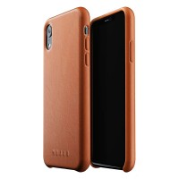 Кожаный чехол MUJJO Full Leather Case Tan для iPhone XR
