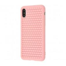 Чехол для iPhone X / Xs Baseus BV Weaving розовый