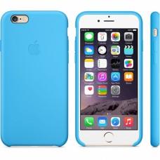 Силиконовый чехол Apple Silicone case Blue для iPhone 6 Plus /6s Plus (копия)