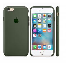 Силиконовый чехол Apple Silicone case Dark olive для iPhone 6 Plus /6s Plus (копия)