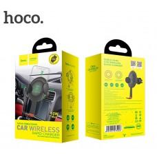 Автомобильный держатель-беспроводная зарядка Hoco CW4A Noble черный