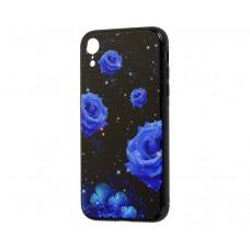 Чехол для iPhone Xr glass Роза