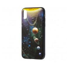 Чехол для iPhone Xr glass Галактика