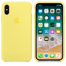 Силиконовый чехол Apple Silicone Case Lemonade для iPhone XS Max