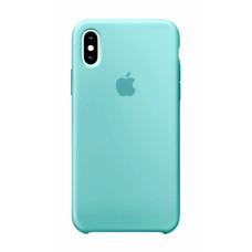 Силиконовый чехол Apple Silicone Mint Blue для iPhone XS Max