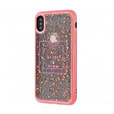 Чехол для iPhone X Polo Glory розово золотистый