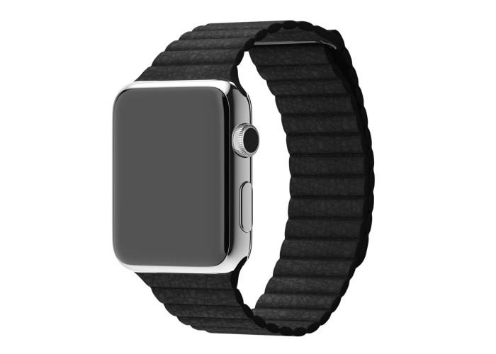 Ремешок для Apple Watch Leather loop 38/42мм Черный