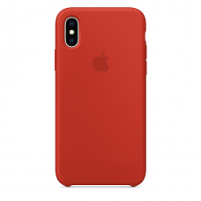 Силиконовый чехол Apple Silicone Case Dark Orange для iPhone Xs Max