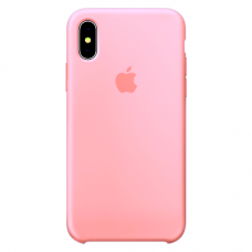 Силиконовый чехол Apple Silicone Case Light Pink для iPhone Xs Max