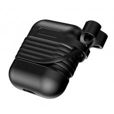 Силиконовый чехол для Airpods Baseus Case with Strap (Black)