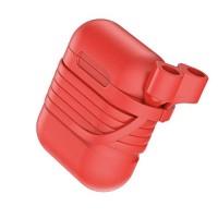 Силиконовый чехол для Airpods Baseus Case with Strap (Red)