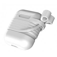 Силиконовый чехол для Airpods Baseus Case with Strap (White)