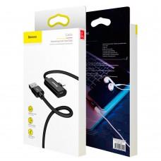 Кабель-переходник Baseus Entertaining Lightning to USB 1m Black