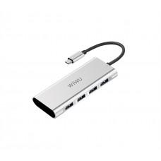 Переходник WiWU A440 Type-C на USB Серебристый