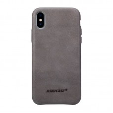 Чехол Jisoncase для iPhone X / Xs Leather Gray