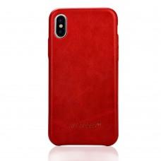 Чехол Jisoncase для iPhone X / Xs Leather Red
