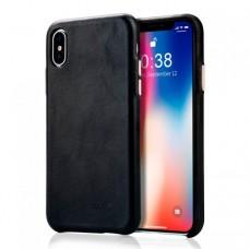 Чехол Jisoncase для iPhone X / Xs Leather Light Black