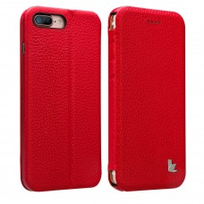Чехол-книжка Jisoncase для iPhone 8 Plus/7 Plus Leather Rose
