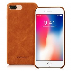 Чехол Jisoncase для iPhone 8 Plus/7 Plus Leather Brown
