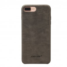 Чехол Jisoncase для iPhone 8 Plus/7 Plus Leather Gray