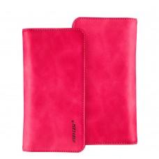 Чехол-кошелек Jisoncase для iPhone универсальный Leather Rose