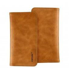 Чехол-кошелек Jisoncase для iPhone универсальный Leather Brown