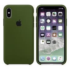 Силиконовый чехол Apple Silicone Case Virid (Темно-зеленый) для iPhone Xs Max