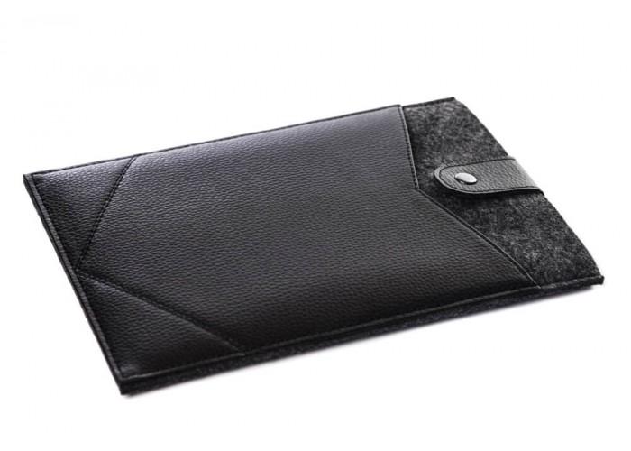 Фетровый чехол-конверт с кнопкой для iPad 9.7/10.5 с экокожей  (GT01)