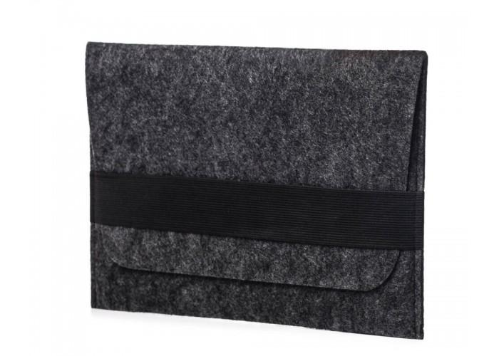 Темный войлочный чехол-конверт для iPad 9.7/10.5 горизонтальный (GT02)