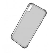 Силиконовый черно-прозрачный чехол Hoco для iPhone X / Xs