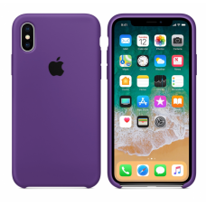 Силиконовый чехол Apple Silicone Case Purple для iPhone Xs Max