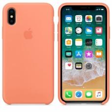 Силиконовый чехол Apple Silicone Case Peach для iPhone Xs Max