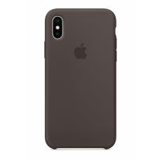 Силиконовый чехол Apple Silicone Case Cocoa для iPhone Xs Max