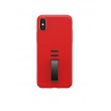 Красный Чехол Baseus Little Tail Belt Ring Case с черной петелькой