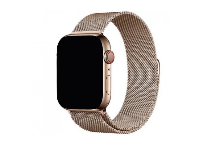 Ремешок для Apple Watch Milanese loop 38/42мм Розовое золото