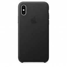 Кожаный чехол Apple Leather Case Black для iPhone X / Xs