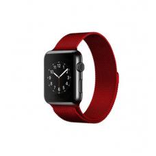 Ремешок для Apple Watch Milanese loop 38/42мм Красный