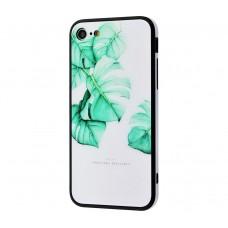 """Чехол для iPhone 7/8 Glass """"Листья"""""""