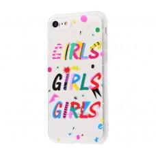 """Силиконовый чехол для iPhone 7/8 Lovely """"GIRLS"""""""