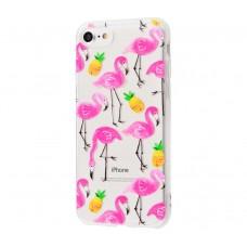 """Силиконовый чехол для iPhone 7/8 Lovely """"Фламинго"""""""