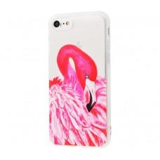 """Силиконовый чехол для iPhone 7/8 Lovely """"РОЗОВЫЙ ФЛАМИНГО"""""""
