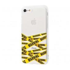"""Силиконовый чехол для iPhone 7/8 Lovely """"WARNING"""""""