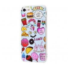 """Силиконовый чехол для iPhone 7/8 Lovely """"PLZ STOP"""""""
