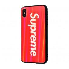 """Чехол для iPhone X / XS Benzo """"Supreme"""" красный"""